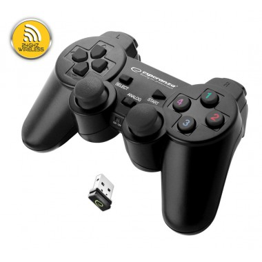 """Gamepad bezprzewodowy 2.4GHz PS3/PC USB Esperanza """"Gladiator"""" czarny"""