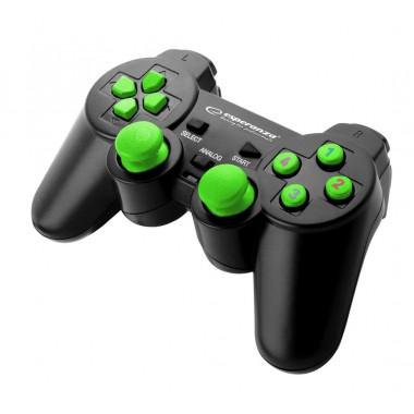 "Gamepad PC USB Esperanza ""Warrior"" czarno/zielony"