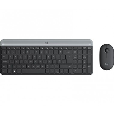 Zestaw bezprzewodowy klawiatura + mysz Logitech MK470 Slim Combo czarny