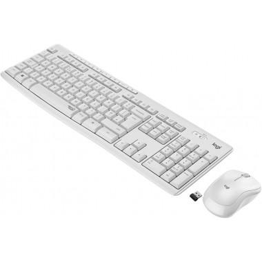Zestaw bezprzewodowy klawiatura + mysz Logitech MK295 Silent Wireless Combo biały