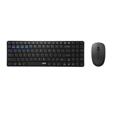 Zestaw bezprzewodowy klawiatura + mysz Rapoo 2,4G 9300 UI, czarny
