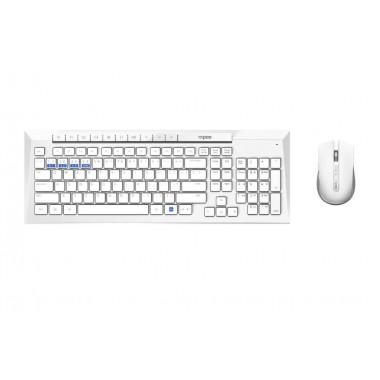 Zestaw bezprzewodowy klawiatura + mysz Rapoo Multi-Mode 8200M UI, biały