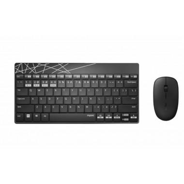 Zestaw bezprzewodowy klawiatura + mysz Rapoo Multi-Mode 8000M UI, czarny
