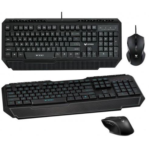 Zestaw przewodowy klawiatura + mysz Rapoo VPRO V100 Gaming czarny