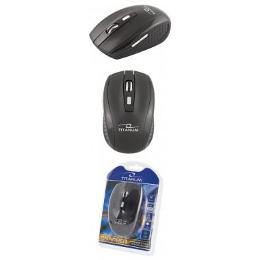 Mysz bezprzewodowa Titanum 6D SNAPPER TM105K optyczna 2,4GHz czarna