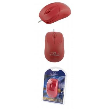 Mysz przewodowa Titanum 3D AROWANA TM109R optyczna czerwona