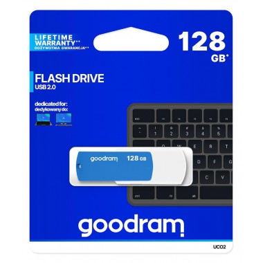Pendrive GOODRAM UCO2 128GB USB 2.0 White-Blue
