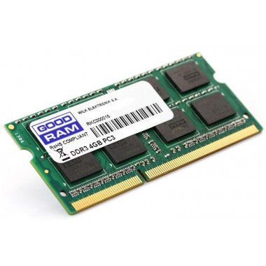 Pamięć DDR3 GOODRAM SODIMM 4GB 1600MHz CL11 256x8 Lov Voltage 1,35V
