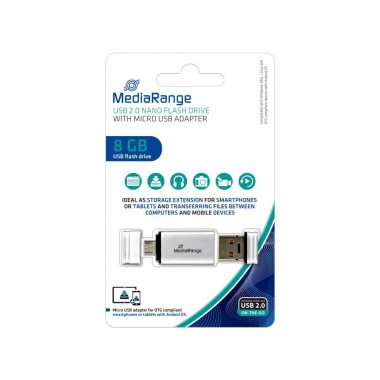 Pendrive MediaRange MR930 8GB USB 2.0 + MicroUSB