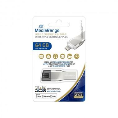 Pendrive MediaRange MR983 64GB USB 3.0 + Lightning