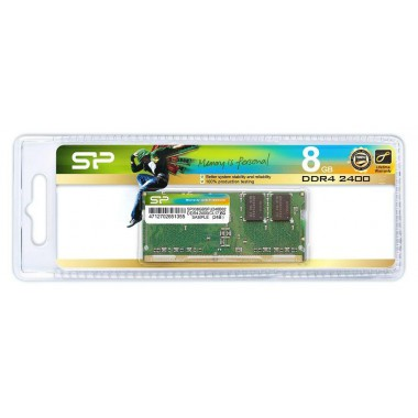 Pamięć DDR4 SODIMM Silicon Power 8GB 2400MHz CL17 1,2V 1Gx8 260pin