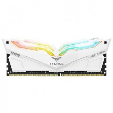 Pamięć DDR4 Team Group Night Hawk RGB 16GB (2x8GB) 4000MHz CL18 1,35V White