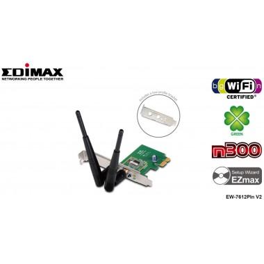 Karta sieciowa Edimax EW-7612Pln V2 PCI-E WiFi N300 1T2R Low Profile