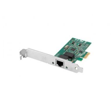 Karta sieciowa Lanberg 1Gb PCI-E 1x RJ45 Intel + śledź low profile