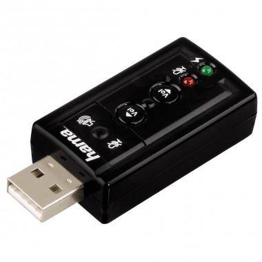 Karta dźwiękowa Hama USB 7.1 kanałowy dźwięk przestrzenny