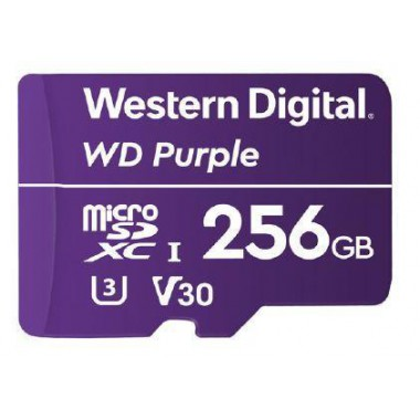 Karta pamięci WD Purple™ WDD256G1P0A 256GB Surveillance MicroSDXC UHS-3 U3 V30 (100/60 MB/s)