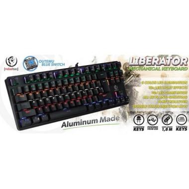 Klawiatura przewodowa Rebeltec LIBERATOR USB mechaniczna gaming Outemu blue switch