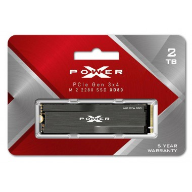 Dysk SSD Silicon Power XPOWER XD80 2TB PCIe Gen3x4 NVMe (3400/2300 MB/s) 2280