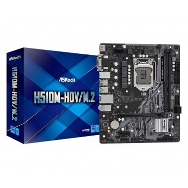 Płyta ASRock H510M-HDV/M.2 /H510/DDR4/SATA3/M.2/USB3.0/PCIe4.0/s.1200/mATX