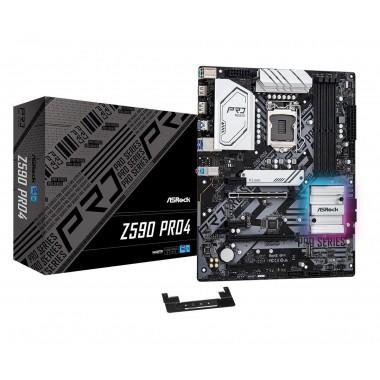 Płyta ASRock Z590 Pro4 /Z590/DDR4/SATA3/M.2/USB3.2/PCIe4.0/s.1200/ATX