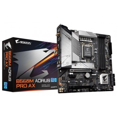 Płyta Gigabyte B560M AORUS PRO AX (rev. 1.0) /B560/DDR4/SATA3/M.2/USB3.1/PCIe3.0/s.1200/WIFI/BT/mATX