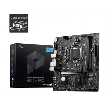 Płyta MSI H510M PRO /H510/DDR4/SATA3/M.2/USB3.2/PCIe3.0/s.1200/mATX