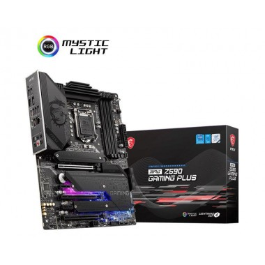 Płyta MSI MPG Z590 GAMING PLUS/Z590/DDR4/SATA3/M.2/USB3.2/PCIe4.0/s.1200/ATX