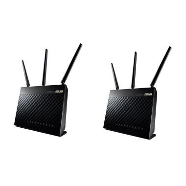 Router Asus RT-AC67U Wi-Fi AC1900 1xWAN 4xLAN 2xUSB 2-pack