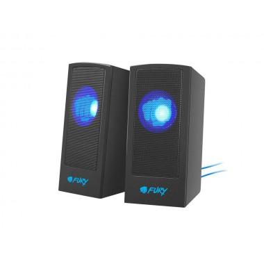 Głośniki Fury Skyray 2.0 5W RMS czarno-niebieskie