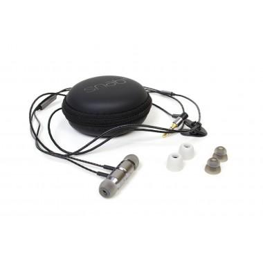 Słuchawki z mikrofonem Snab OverTone EP-101M czarno-srebrne
