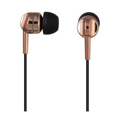 Słuchawki z mikrofonem Thomson EAR3005BO miedziane