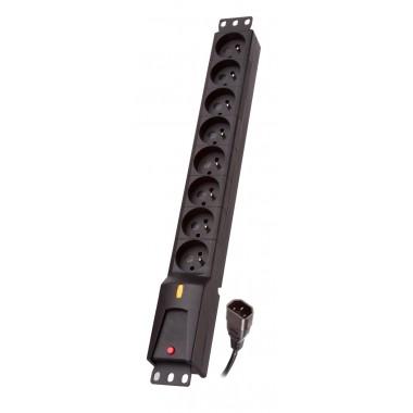 Listwa zasilająca Lestar LZRM  810  BW  G-A K.:CZ  1,5M IEC320