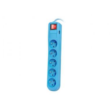 Listwa zasilająca Natec Extreme Media SP5 1,5m niebieska 5 gniazd