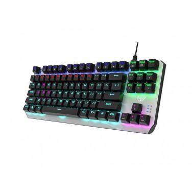 Klawiatura przewodowa dla graczy Aula Aegis Gaming mechaniczna, podświetlana, TKL, BLUE SWITCH
