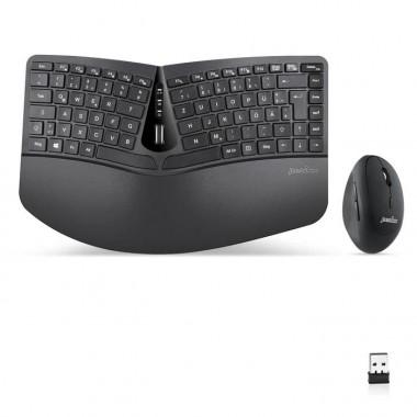 Zestaw bezprzewodowy klawiatura+mysz pionowa Perixx PERIDUO-606 C Ergonomic czarny silent