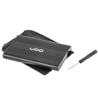 "Obudowa na dysk UGO UKZ-1003 USB 2.0 SATA 2,5"" aluminium"